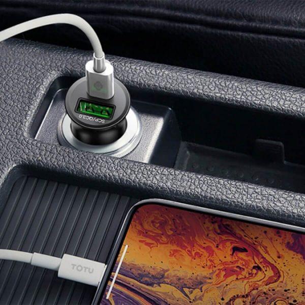 فروش شارژر فندکی دو پورت سریع توتو ۳۰ وات TOTU Car Charger 30W
