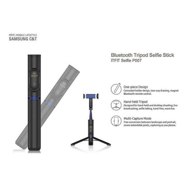 فروش پایه مونوپاد سامسونگ مدل Tripod Selfie Stick P007