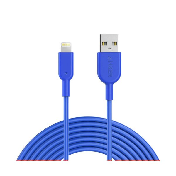فروش کابل تبديل USB به لايتنينگ انکر مدل PowerLine II طول 1 متر PowerLine II 10ft Lightning