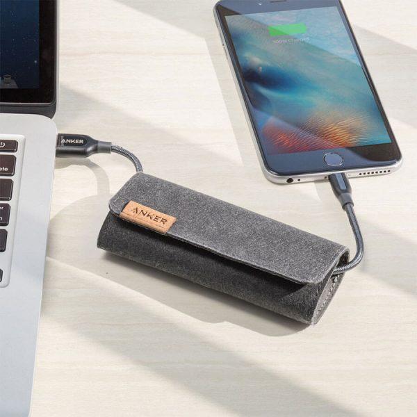فروش کابل تبديل USB به لايتنينگ انکر مدل PowerLine+3ft طول 90 سانتی متر PowerLine+3ft Lightning