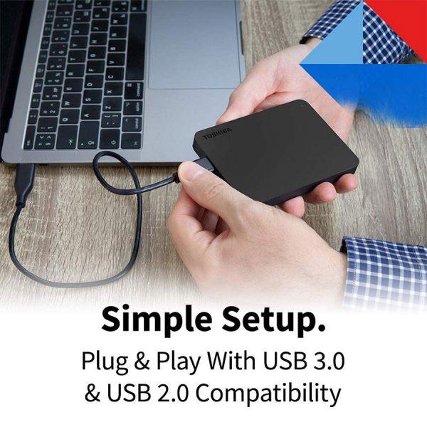 Toshiba (HDTB420XK3AA) Canvio Basics 2TB Portable External Hard Drive USB 3.0, Black