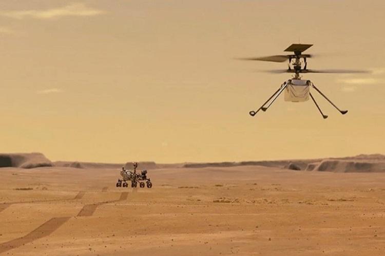 هلیکوپتر کوچک Ingenuity ناسا عملیات را موفقیت امیز پشت سر گذاشت
