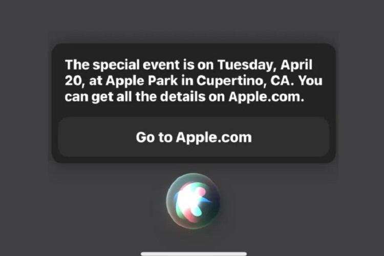 سیری رویداد بعدی اپل را فاش کرد