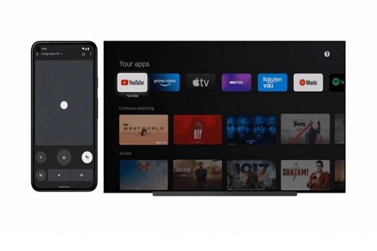 قابلیت کنترل گوشی با تلویزیون در اندروید 12